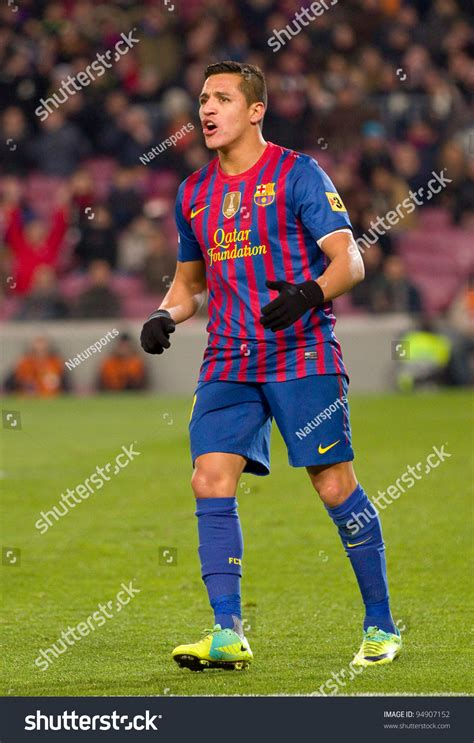barcelona in february barcelona february 2 alexis sanchez of fcb in action