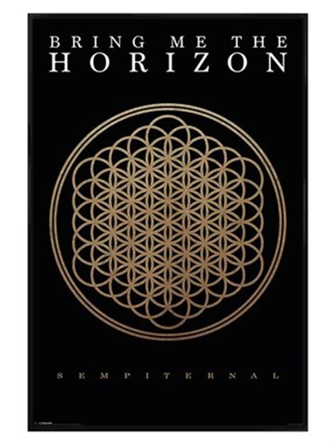 Poster Bring Me The Horizon 02 Jumbo Size 50 X 70 Cm gloss black framed sempiternal album bring me the horizon poster buy