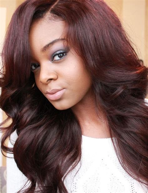 hairstyles and color for dark skin burgundy hair color on dark skin beauty pinterest