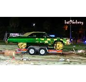 Green &amp GOLD Flamed 1975 Caprice Donk On 28 DUB