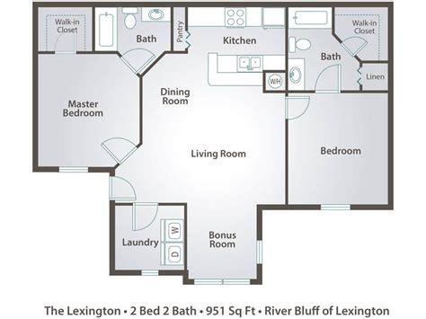 2 bedroom 2 bath open floor plans apartment floor plans pricing river bluff of lexington