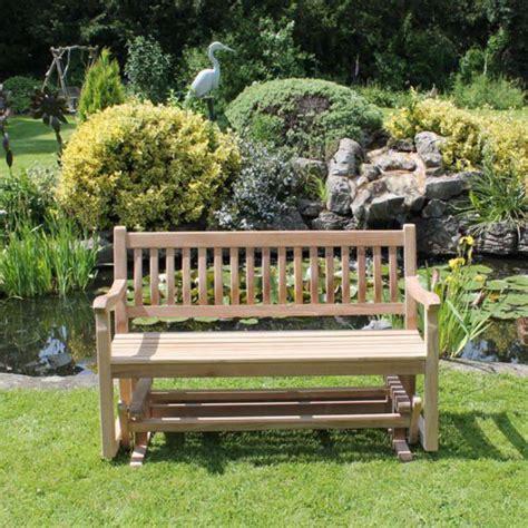 rocking garden bench 150cm teak garden rocking bench rattan and teak garden