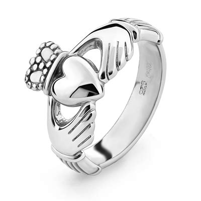 mens silver claddagh ring ms clad6h