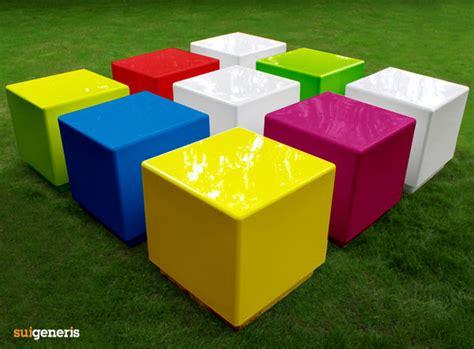 seating cubes cube modular seats and tables contemporary fibreglass