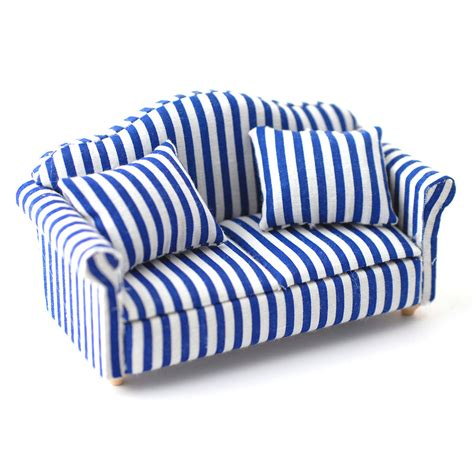 blue and white ottoman blue striped chair and ottoman custom slipcovers by