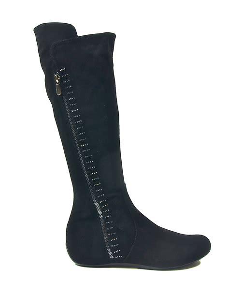 black womans boots s flat black legging boots