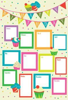 birthday chart template for classroom hanke s portfolio happy birthday chart giochi