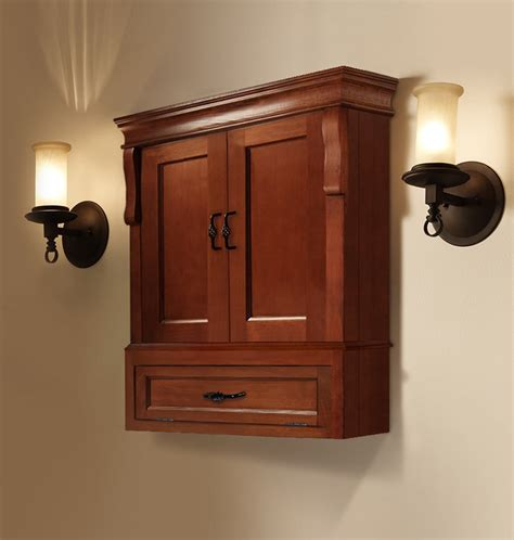 Wood Bathroom Furniture Wooden Wall Cabinet Design