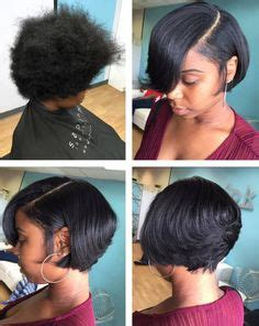 thin relaxed hair around ear short relaxed hairstyles simply beautiful pinterest
