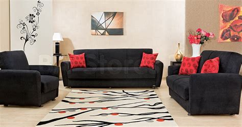 black sofa and loveseat black vinyl grey fabric modern
