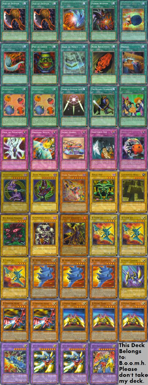 yugioh decks my yu gi oh card deck by boredbird on deviantart
