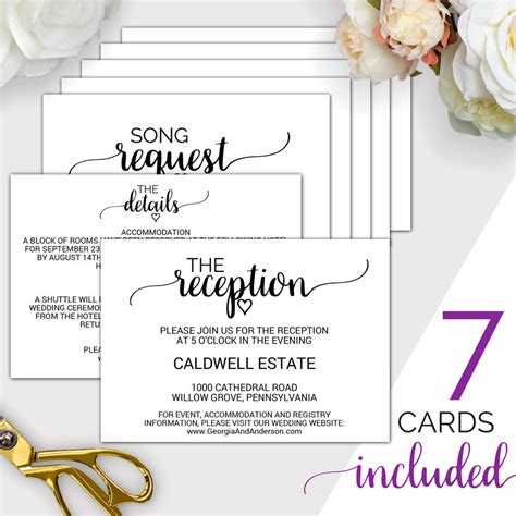 enclosure cards details for wedding free template 7 printable wedding enclosure cards wedding details card