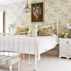 Guest Bedroom Wallpaper White Bedroom Design With Floral Decorations