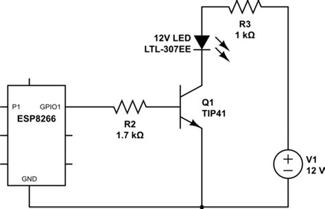 npn transistor and led microcontroller npn transistor is always on electrical engineering stack exchange