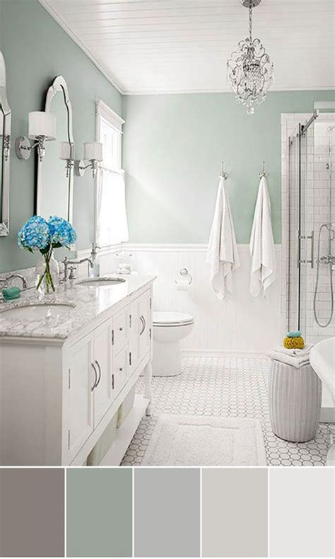 Colors To Paint Small Bathrooms by Best 25 Bathroom Color Schemes Ideas On Guest