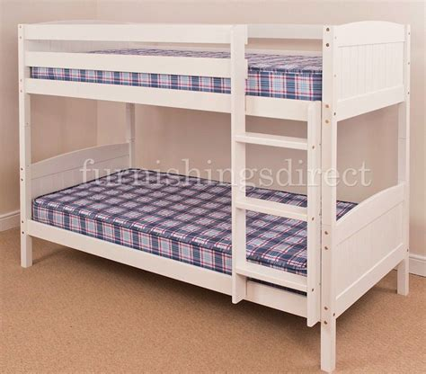 Ebay Bunk Beds With Mattresses 3ft Single 2ft6 Shorty White Antique Pine Bunk Bed Mattress Option