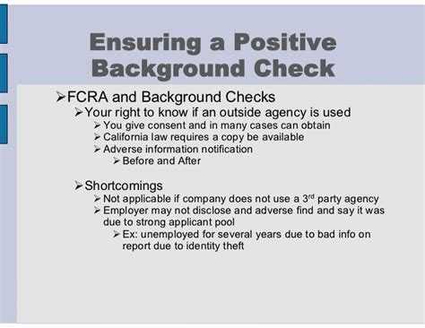 Fcra Background Check 110304 Background Check Preparation