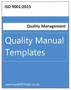quality manual template free iso templates