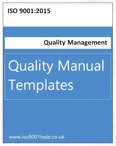 iso 9001 quality manual template free iso templates
