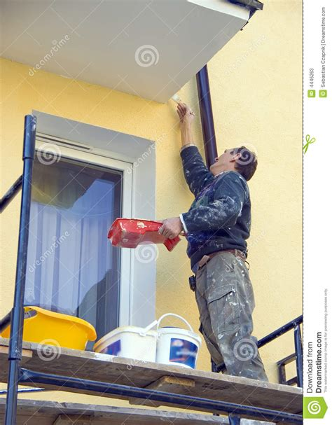 looking for a man who paints houses painting house facade stock photos image 4446263