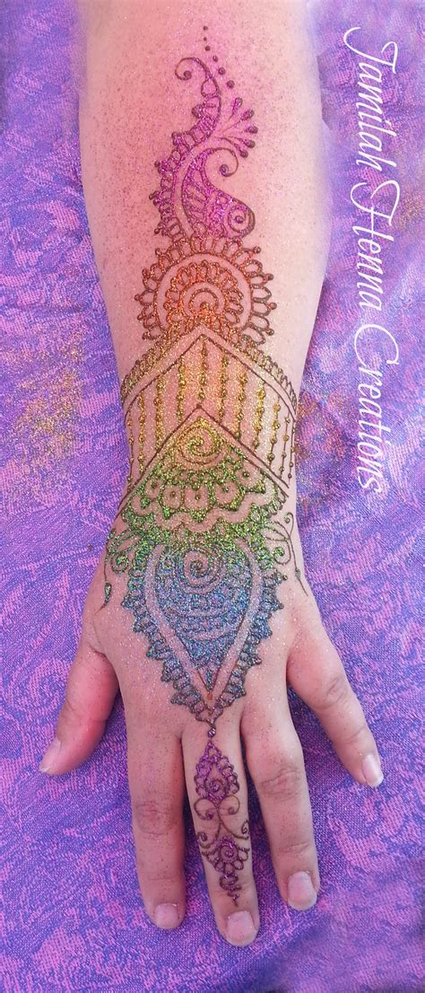 henna colored tattoo how to use glitter to embellish your henna artistic