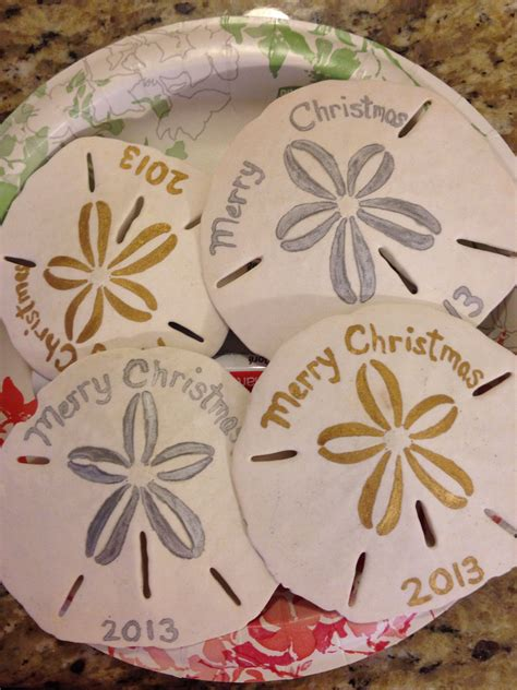 sand dollar ornaments     christmas