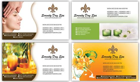 spa business card psd template and spa business card psd templates