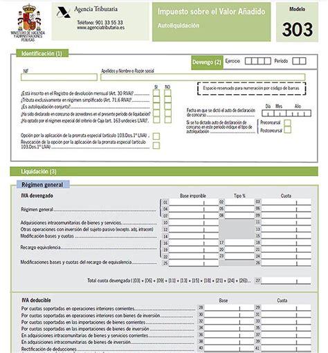 declaracion iva 2016 bogota asesor 237 a corral 187 nuevos modelo 303 de iva para 2014