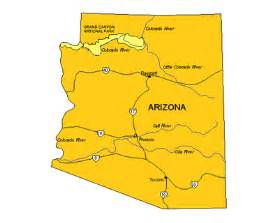 arizona state major maps major cities in arizona map