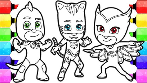 pj masks coloring pages how to draw and color catboy