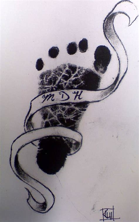 A Baby Footprint Tattoo Design 2 Tattoos Book 65 000 Baby Footprint Tattoos On 2