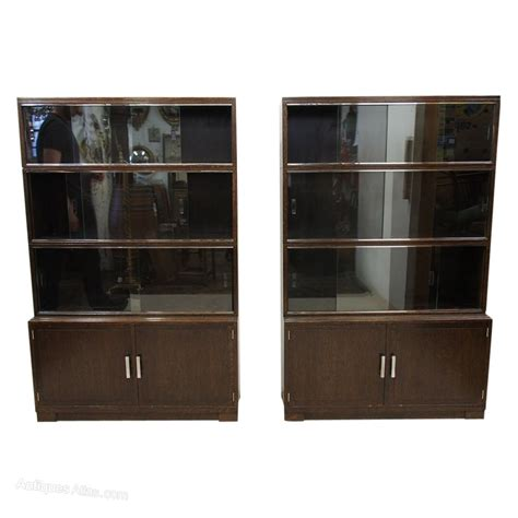 Oxford Bookcase Set Of 3 Art Deco Bookcases By Minty Of Oxford Antiques