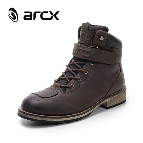 motorbike footwear arcx motorcycle boots mens leather boots riding waterproof