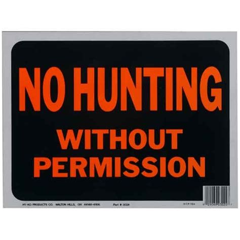 printable coupons uk no sign up no hunting without permission sign plastic 9 quot x12
