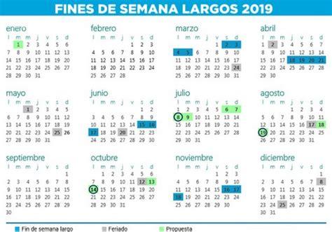 Calendario 2018 Y 2019 Argentina Anunci 243 El Calendario De Feriados Para 2018 Y