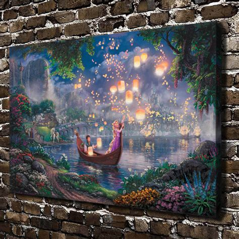 h1208 kinkade tangled hd canvas print home