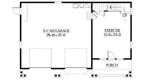 detached garage with bonus space galore 23067jd cad available carriage craftsman