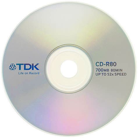 format cd r disc tdk 52x cd r t18767 700mb blank cdr discs 25 disc