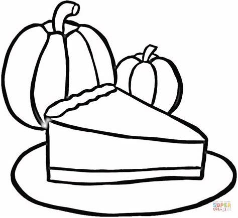 Coloring Pages Pumpkin Pie | coloriage part de tarte 224 la citrouille coloriages 224