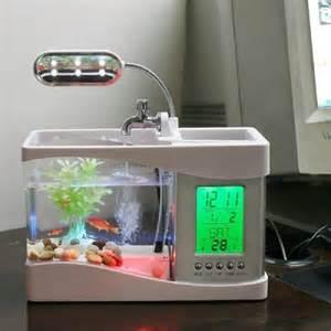 Fish Tank Desk Organizer Portable Usb Desktop Fish Aquarium Desk Organizer Home Designing