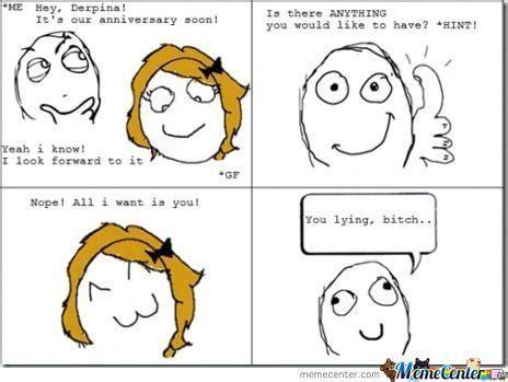 Funny Anniversary Memes - lying girlfriend funny meme funny memes and pics