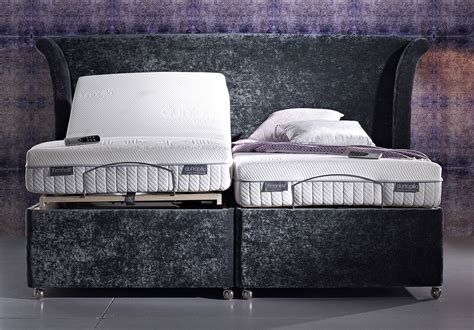dunlopillo electric adjustable king size divan bed at relax sofas and beds