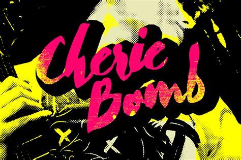 desain grafis furnitur cherie bomb script fonts on creative market