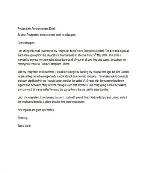 Letter To Customers Announcing Resignation by Employee Resignation Announcement To Clients Sle Letter Docoments Ojazlink