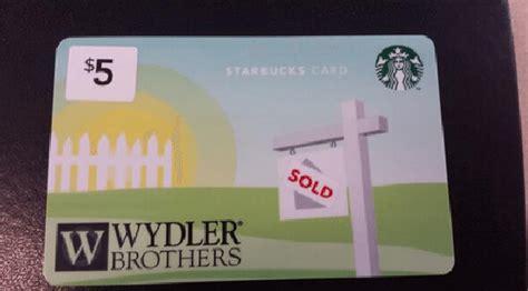 Starbucks Custom Gift Card - branded starbucks cards keeping agents top of mind