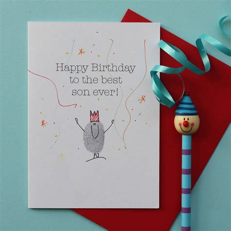 printable birthday cards for son son thumb print birthday card by adam regester art and