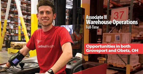 Cardinal Health Mba Operations Internship by Cardinal Health Associate Ii Warehouse Operations In