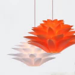 Lotus Flower Light Fixture Modern Novelty Pendant Lights Diy Lotus Flower Lshade