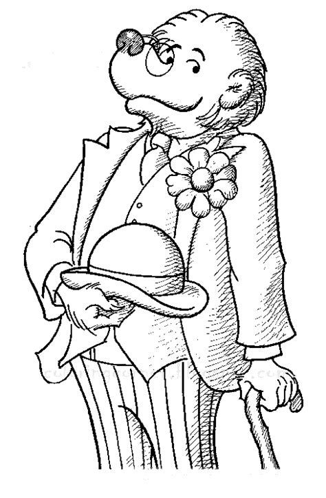 berenstain bears coloring page berenstain bears coloring pages