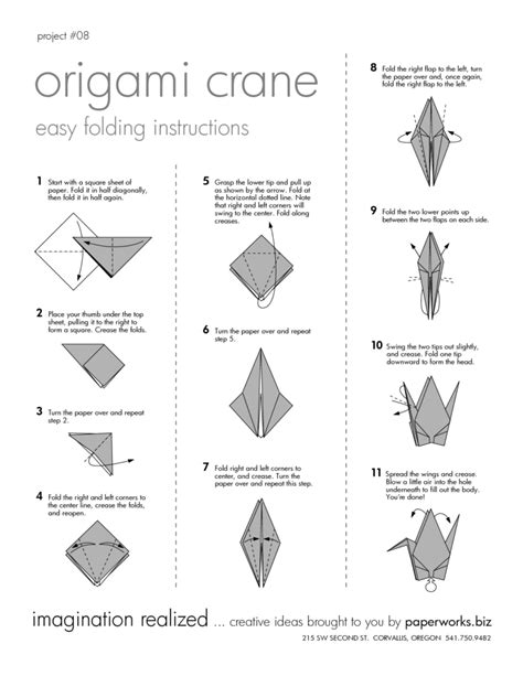 How To Make A Crane Origami - free coloring pages diy origami crane the agora how to